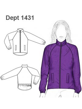 CHAQUETA RAGLAN IMPERMEABLE MUJER