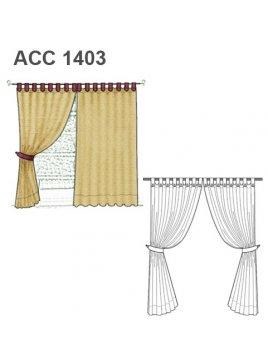 CORTINAS CON PRESILLA ACC 1403