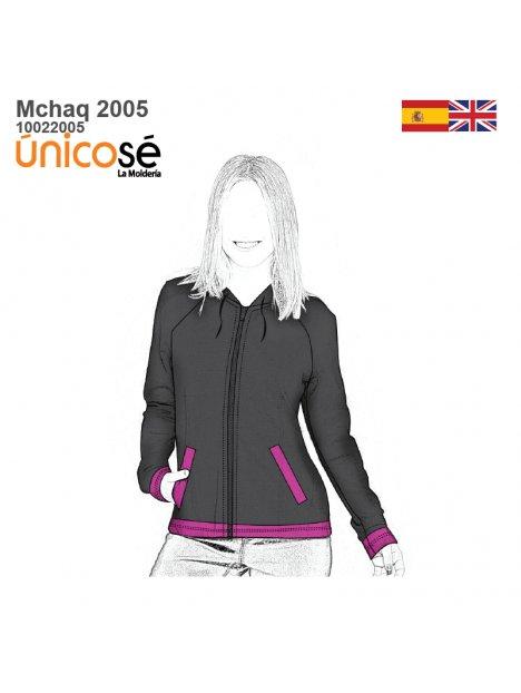 CHAQUETA URBANA RAGLAN MUJER 2005