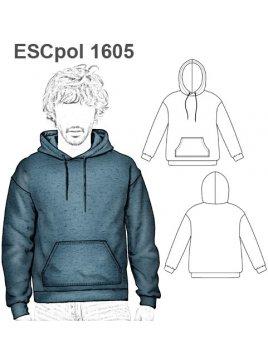 POLERON CANGURO ESCOLAR 1605