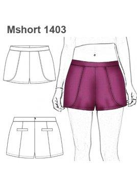 SHORT CAPAS MUJER 1403