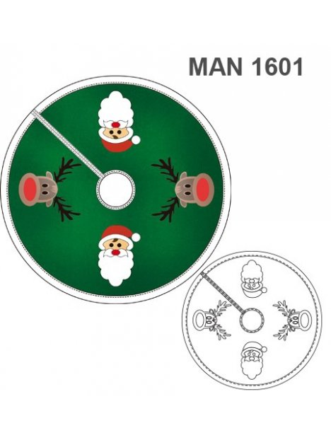 PIE ARBOL NAVIDAD MAN 1601