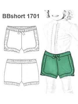 SHORT CON VUELOS BEBE 1701