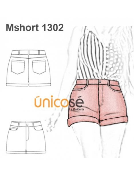 SHORT JEANS MUJER 1302