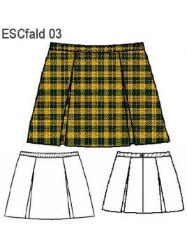 FALDA ESCOLAR 4 TABLAS ESCOLAR 0903