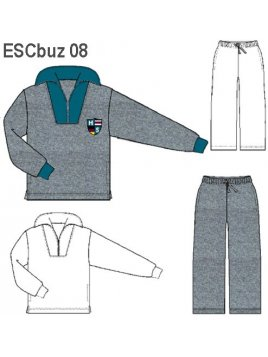 BUZO CUELLO ALTO UNISEX, 1/2 CIERRE.