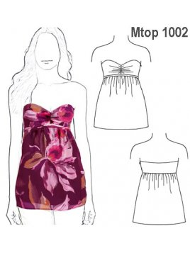 TOP STRAPLESS MUJER 1002
