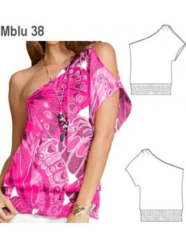 BLUSA SIN HOMBROS MUJER 0938