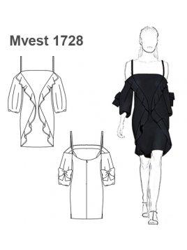 VESTIDO SIN HOMBROS MUJER 1728