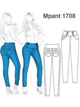 PANTALON PUSH UP 1708