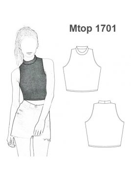 CROP TOP CUELLO ALTO