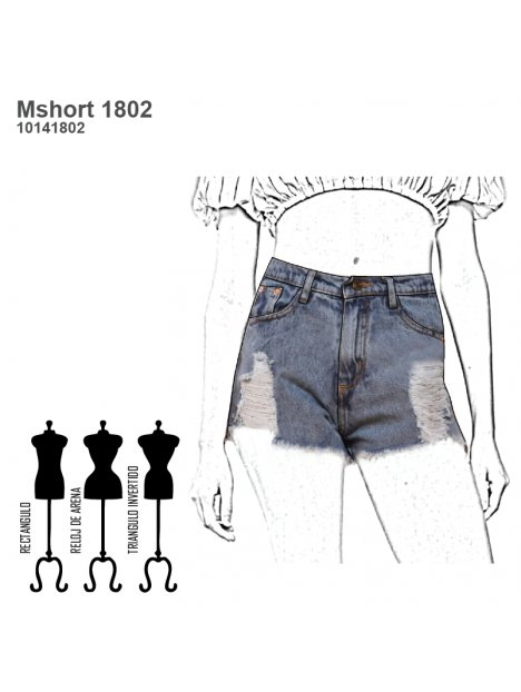 SHORT JEANS MUJER 1802