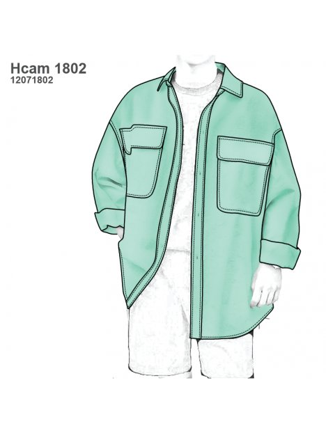 CAMISA OVERSIZE HOMBRE 1802
