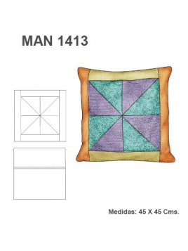COJIN PATCHWORK REMOLINO MAN 1413