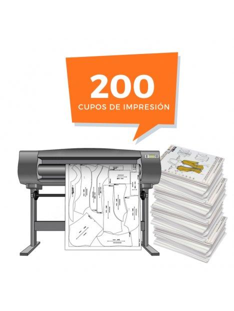 Derechos de Impresión 200 Moldes