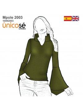 POLERA MANGA CAMPANA MUJER 2003