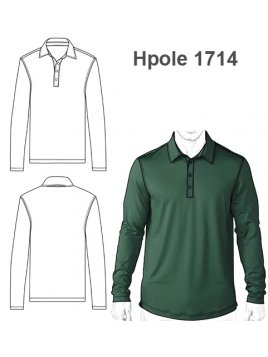 POLERA PIQUE HOMBRE 1714