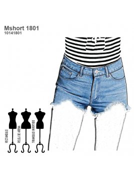 SHORT JEANS MUJER 1801